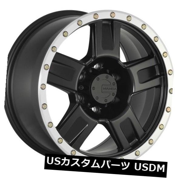 海外輸入ホイール 18x9 MAMBA M18 6x139.7 et-12 Matte Black W / Machine Bead Lip Wheels(4個セット) 18x9 MAMBA M18 6x139.7 et-12 Matte Black W/Machine Bead Lip Wheels (Set of 4)