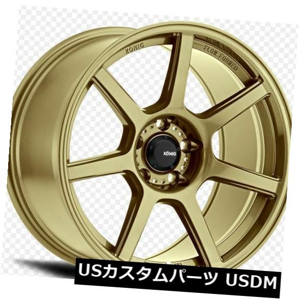 海外輸入ホイール 18x10.5 Konig Ultraform 5x114.3 +25ゴールドホイール(4個セット) 18x10.5 Konig Ultraform 5x114.3 +25 Gold Wheels (Set of 4)