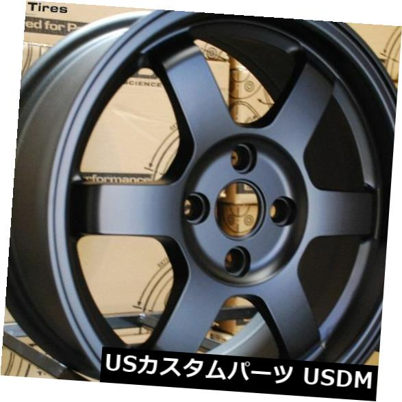 新着 海外輸入ホイール 15x6.5 Rota GRID 4x100 +38フラットブラックホイール(4個セット) 15x6.5 of 4) Rota GRID GRID 4x100 +38 Flat Black Wheels (Set of 4), 匠の道具箱:3f312403 --- domains.visuallink.ca