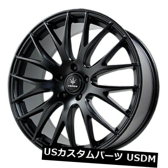 超爆安  海外輸入ホイール Black 5x112 20x8.5 Verde Saga 5x112 +38サテンブラックホイール(4個セット) 20x8.5 of Verde Saga 5x112 +38 Satin Black Wheels (Set of 4), エムズパーツshop:2bed119b --- adaclinik.com