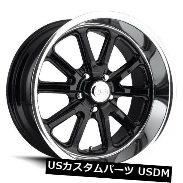 海外輸入ホイール 18x9.5 Us Mag Rambler U121 5x4.75 ET1グロスブラックホイール 4個セット 18x9.5 Us Mag Rambler U121 5x4.75 ET1 Gloss Black Wheels Set of