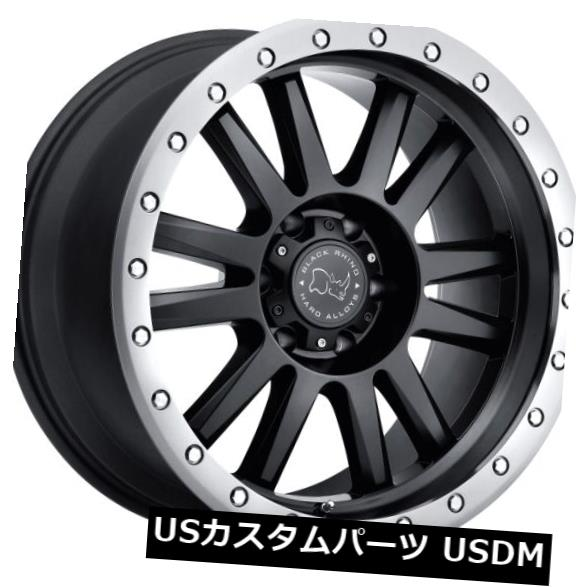 海外輸入ホイール 20x10ブラックRhino Tanay 5x139.7 ET-12マットブラックホイール(4個セット) 20x10 Black Rhino Tanay 5x139.7 ET-12 Matte Black Wheels (Set of 4)