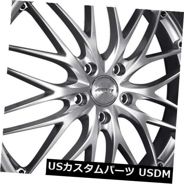 アンマーショップ 海外輸入ホイール (Set MRR MRR GT1 18x8.5/ 18x9.5 5x115ハイパーシルバーホイールリム(4個セット) Wheels MRR GT1 18x8.5/18x9.5 5x115 Hyper Silver Wheels Rims (Set of 4), ギフトパーク/果物フルーツ通販:5223ac63 --- ecommercesite.xyz