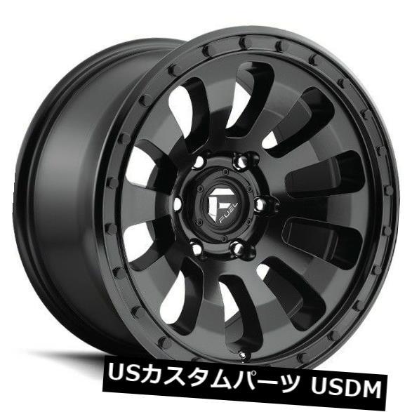 海外輸入ホイール 18x9フューエルD630 6x5.5 ET-12マットブラックホイール(4個セット) 18x9 FUEL D630 6x5.5 ET-12 Matte Black Wheels (Set of 4)