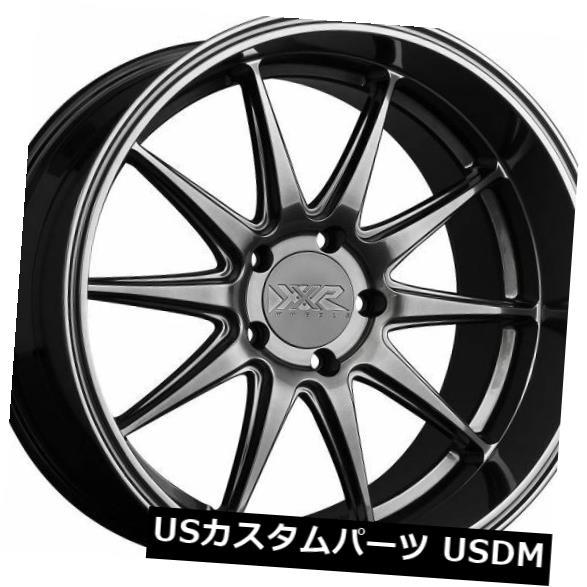 海外輸入ホイール XXR 527D 20x9 5x114.3 +35クロムブラック(4)リムの新しいセット XXR 527D 20x9 5x114.3 +35 Chromium Black New Set of (4) Rims