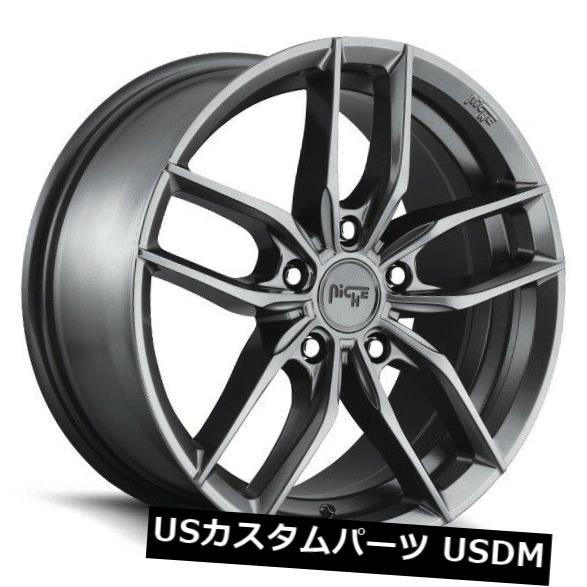 海外輸入ホイール 18x8 NICHE VOSSO M204 5x112 42マットガンメタルホイール 4個セット 18x8 NICHE VOSSO M204 5x112 42 Matte GunMetal Wheels Set of 4