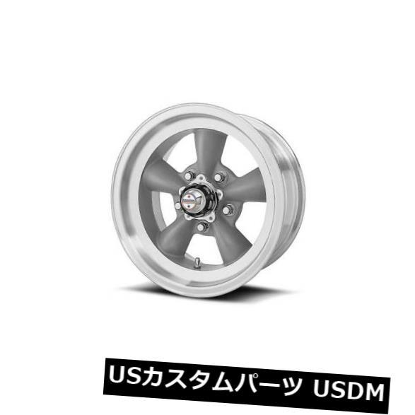 車用品 バイク用品 >> タイヤ ホイール 海外輸入ホイール 15x6 AMERICAN アイテム勢ぞろい RACING TORQ THRUST D ET4 of Mach Rims 5x114.3 Set 4個セット W 4 セール商品 Grey Lip Gray
