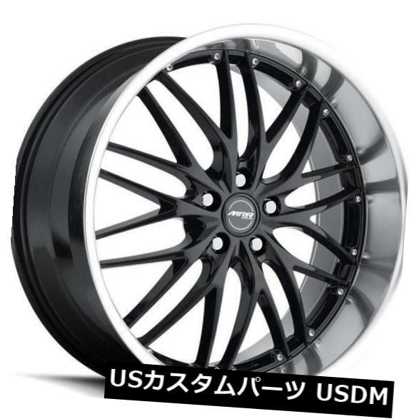 海外輸入ホイール 18x8.5 MRR GT1 5x108 +35ブラックホイールの新しいセット(4) 18x8.5 MRR GT1 5x108 +35 Black Wheels New Set of (4)