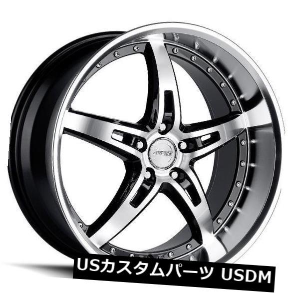 海外輸入ホイール 19x8.5 MRR GT5 5x108 +35ブラックホイール(4個セット) 19x8.5 MRR GT5 5x108 +35 Black Wheels (Set of 4)