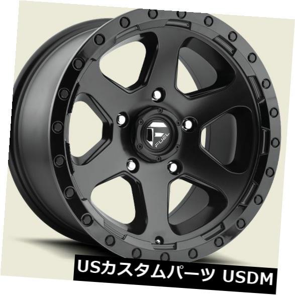 海外輸入ホイール フューエルリッパーD589 17x9 5x5.0 ET1マットブラックホイール(4個セット) Fuel Ripper D589 17x9 5x5.0 ET1 Matte Black Wheels (Set of 4)
