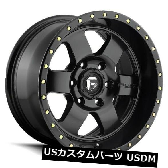 保障できる 海外輸入ホイール 17x9フューエルD618 6x5.5 ET-12マットブラックホイール(4個セット) 17x9 FUEL D618 6x5.5 ET-12 Matte Black Wheels (Set of 4), 湯布院町 776a0ee1
