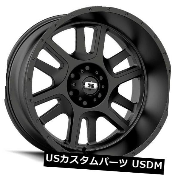 海外輸入ホイール 20X10 Vision 419 Split 6x135 ET-25サテンブラックホイール(4個セット) 20X10 Vision 419 Split 6x135 ET-25 Satin Black Wheels (Set of 4)