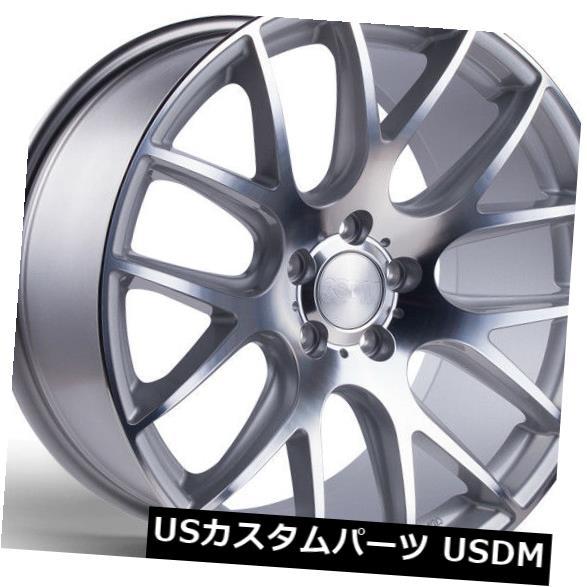華麗 海外輸入ホイール 18X8.5 3SDM 0.01 5X112 +45シルバーカットホイール(4個セット) 18X8.5 3SDM 0.01 5X112 +45 Silver Cut Wheels (Set of 4), 上川村 6518b465