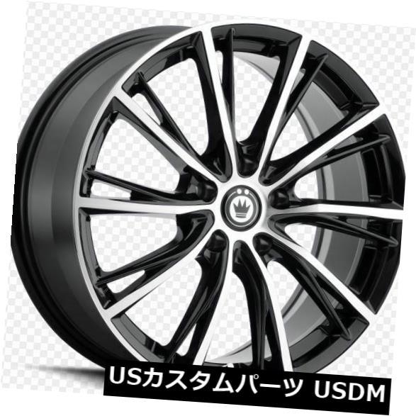 海外輸入ホイール 17x7.5 Konig Impression 5x115 +40 Gloss Blak Wheels(4個セット) 17x7.5 Konig Impression 5x115 +40 Gloss Blak Wheels (Set of 4)