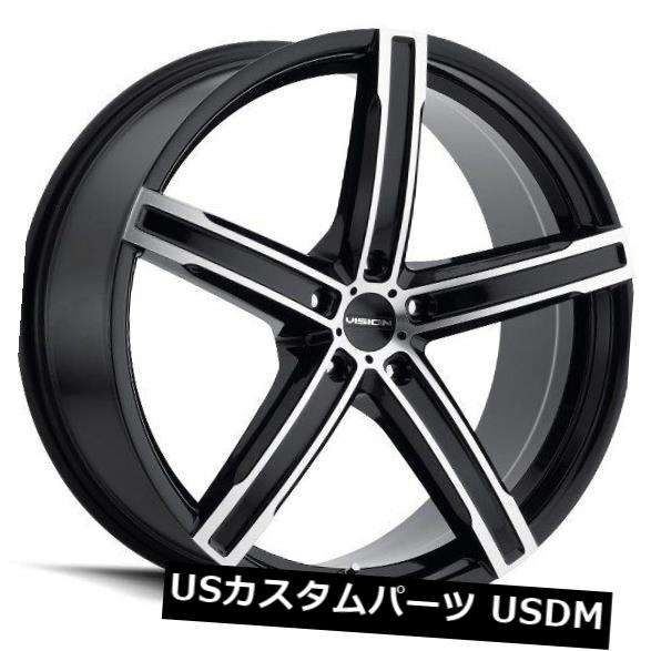 【ポイント10倍】 海外輸入ホイール 20X8.5 Vision 469 4) Boost 5x115 ET35ブラックミラー加工フェイスホイール(4個セット) Wheels 20X8.5 Vision 20X8.5 469 Boost 5x115 ET35 Black Mirror Machined Face Wheels (Set of 4), 雑貨屋さん ふるーつどろっぷ:e4ed9b15 --- lms.imergex.tech