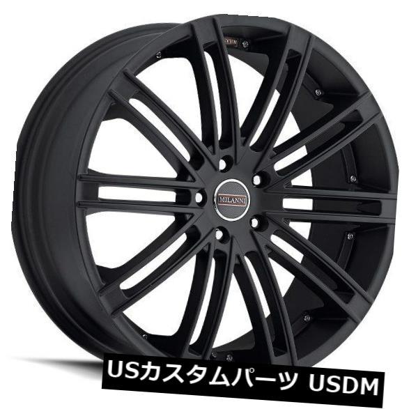 海外輸入ホイール 20X10.5 Milanni 9032 Khan 5x114.3 ET25サテンブラックホイール(4個セット) 20X10.5 Milanni 9032 Khan 5x114.3 ET25 Satin Black Wheels (Set of 4)