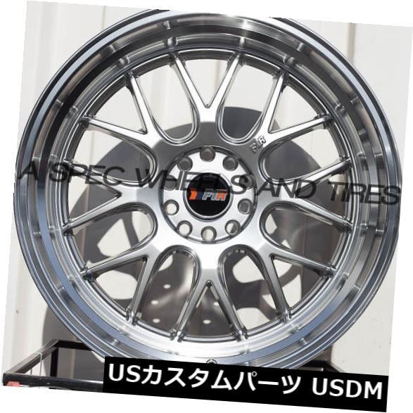 海外輸入ホイール F1R F21 20x10 5x114.3 / 120 Et40 Hyper Black / Polish Lip set of 4 F1R F21 20x10 5x114.3/120 Et40 Hyper Black/Polish Lip set of 4