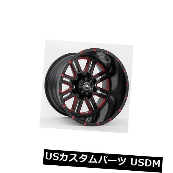 爆買い! 海外輸入ホイール A106 20x12ブラックミルドレッドホイールアメリカンオフロードA106 5x114.3 -44(4個セット) 20x12 -44 Black 4) Milled Red Wheels American Off-Road A106 5x114.3 -44 (Set of 4), お名前シールのお店 お名前シール:906458f7 --- annhanco.com