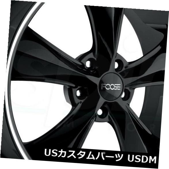 海外輸入ホイール 20x8.5グロスブラックホイールFoose Legend F104 5x120 35(4個セット) 20x8.5 Gloss Black Wheels Foose Legend F104 5x120 35 (Set of 4)