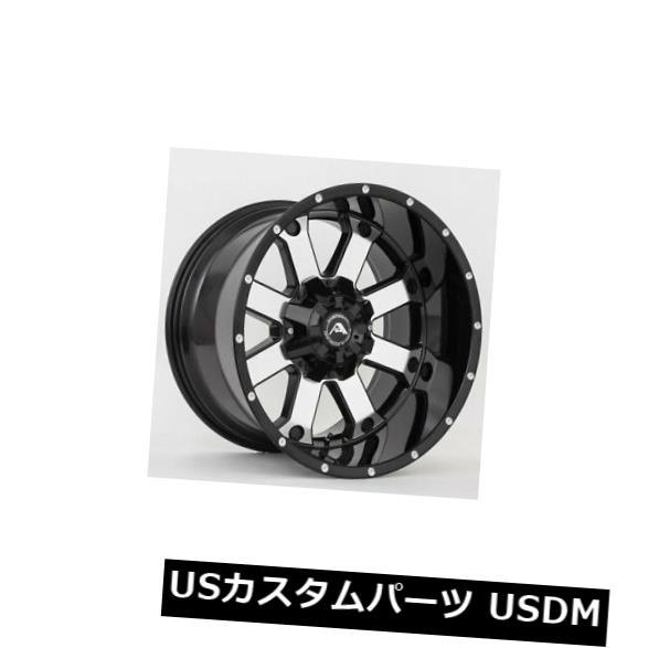 人気提案 海外輸入ホイール 20x12ブラックマシニングホイールアメリカオフロードA108 6x5 / 6x127 -44(4個セット) 20x12 Black Machined Wheels American Off-Road A108 6x5/6x127 -44 (Set of 4), リコメン堂 96007d8f