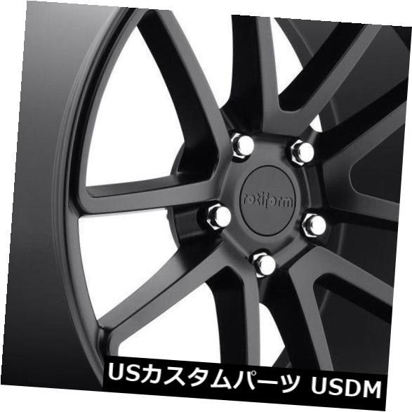 海外輸入ホイール 18x8.5マットブラックホイールRotiform SPF R122 5x114.3 38(4個セット) 18x8.5 Matte Black Wheels Rotiform SPF R122 5x114.3 38 (Set of 4)