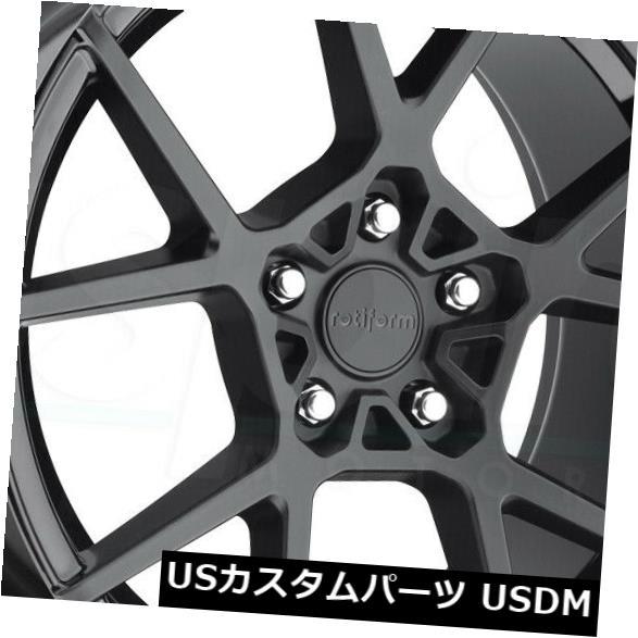 大特価放出! 海外輸入ホイール 19x8.5マットブラックホイールRotiform KPS R139 5x114.3 35(4個セット) R139 19x8.5 35(4個セット) of Matte Black Wheels Rotiform KPS R139 5x114.3 35 (Set of 4), ラビングストア1031:0f582021 --- experiencesar.com.ar