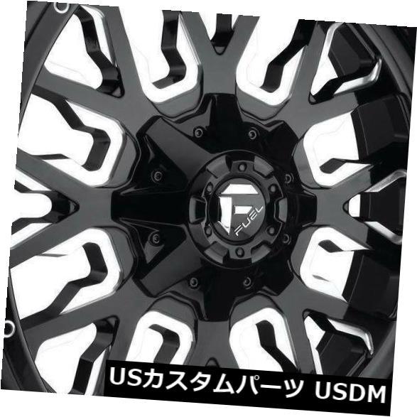 海外輸入ホイール 20x9ブラックミルドホイールフューエルストロークD611 8x170 1(4個セット) 20x9 Black Milled Wheels Fuel Stroke D611 8x170 1 (Set of 4)