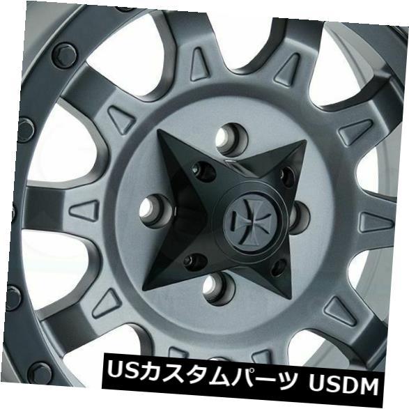 海外輸入ホイール 18x9マットガンメタルホイールダーティライフロードキル6x135 -12(4個セット) 18x9 Matte Gunmetal Wheels Dirty Life Roadkill 6x135 -12 (Set of 4)