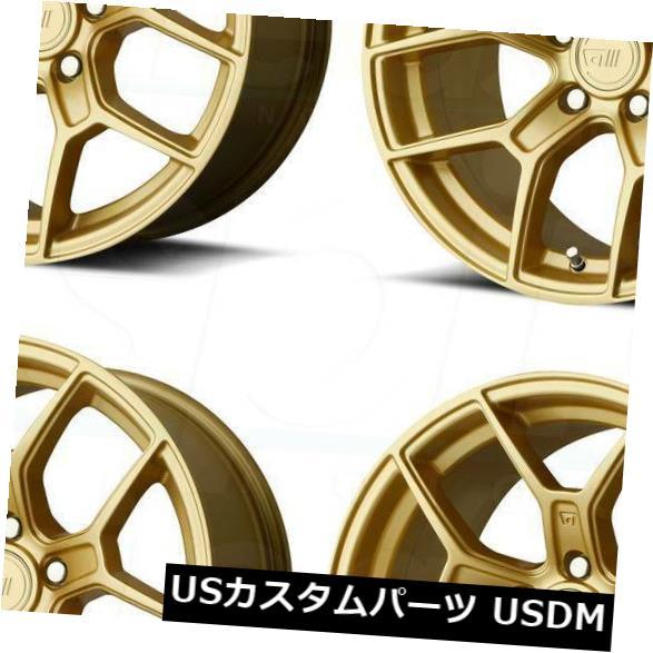 海外輸入ホイール 18x9.5ゴールドホイールMotegi MR133 5x114.3 35(4個セット) 18x9.5 Gold Wheels Motegi MR133 5x114.3 35 (Set of 4)