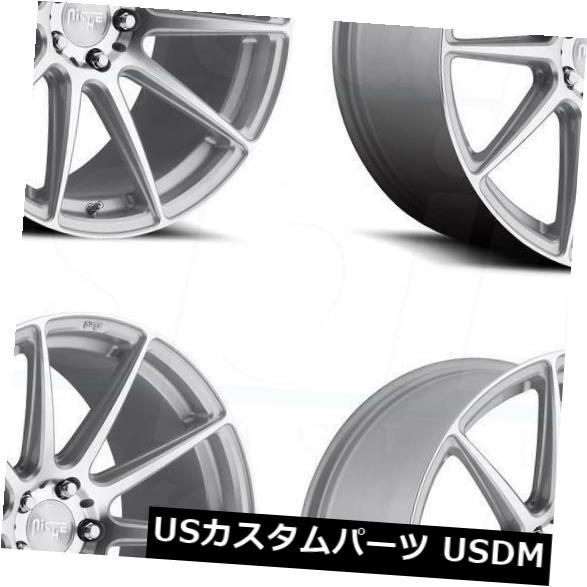 100%安い 海外輸入ホイール 18x8シルバー加工ホイールNiche Essen M146 5x120 40(4個セット) 18x8 Silver Machined Wheels Niche Essen M146 5x120 40 (Set of 4), 本格手打 もり家 f0a1d723