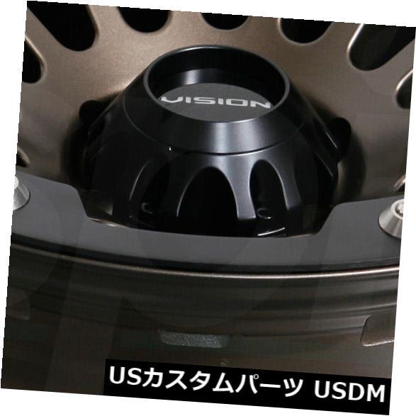 ★お求めやすく価格改定★ 海外輸入ホイール 18x9サテンブロンズホイールビジョン417クリープ5x5.5 / 5x139.7 12(4個セット) 18x9 Satin Bronze Wheels Vision 417 Creep 5x5.5/5x139.7 12 (Set of 4), KUOPIO 5f446f36
