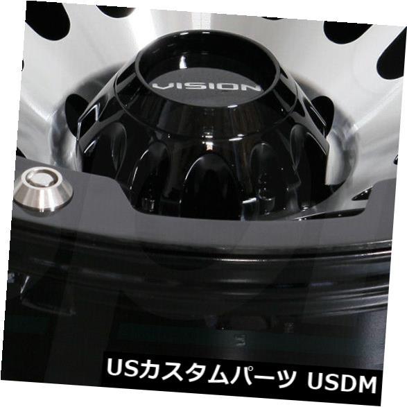 人気定番の 海外輸入ホイール 18x9ブラックマシニングホイールビジョン417クリープ5x150 12(4個セット) 18x9 Black Machined Wheels Vision 417 Creep 5x150 12 (Set of 4), ABC電機 e9fe9f53