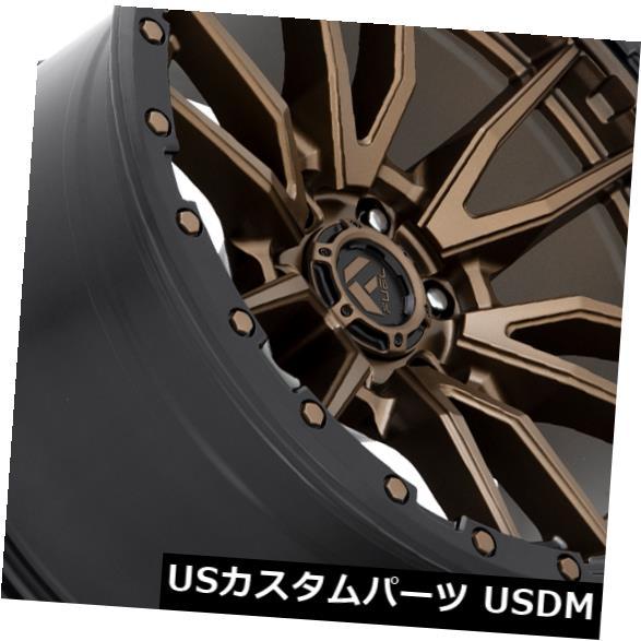 海外輸入ホイール 20x10ブロンズブラックリップホイールFuel Rebel D681 6x5.5 / 6x139.7 -18(4個セット) 20x10 Bronze Black Lip Wheels Fuel Rebel D681 6x5.5/6x139.7 -18 (Set of 4)