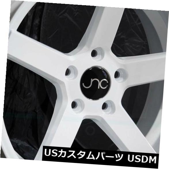 【送料無料/即納】  海外輸入ホイール 20x9.5ホワイトホイールJNC 026 JNC026 5x112 35(4個セット) 20x9.5 White Wheels JNC 026 JNC026 5x112 35 (Set of 4), アワラシ 6be27400
