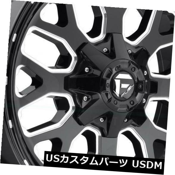 <title>車用品 バイク用品 >> タイヤ ホイール 海外輸入ホイール 20x9ブラックミルドホイールフューエルタイタンD588 8x170 1 4個セット 20x9 Black Milled Wheels Fuel Titan D588 永遠の定番 Set of 4</title>