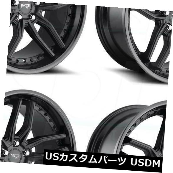 <title>車用品 バイク用品 >> タイヤ ホイール 海外輸入ホイール 20x9ブラックホイールNiche Methos M194 5x114.3 35 4個セット 20x9 日本 Black Wheels Niche Set of 4</title>