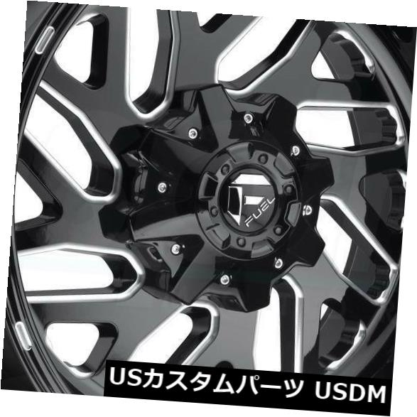 海外輸入ホイール 20x9ブラックミルドホイールフューエルトリトンD581 6x135 / 6x5.5 1(4個セット) 20x9 Black Milled Wheels Fuel Triton D581 6x135/6x5.5 1 (Set of 4)