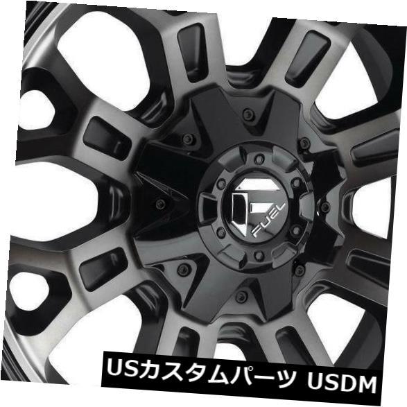 海外輸入ホイール 18x9ブラックマシニングホイールフューエルクラッシュD561 6x135 / 6x5.5 20(4個セット) 18x9 Black Machined Wheels Fuel Crush D561 6x135/6x5.5 20 (Set of 4)