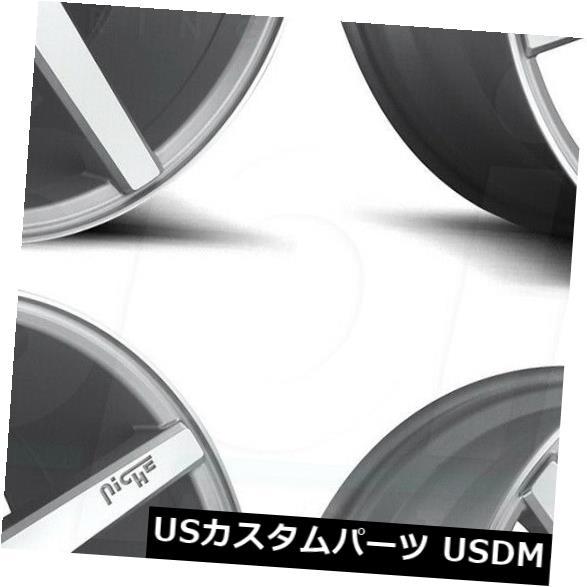 日本産 車用品 バイク用品 >> タイヤ ホイール 海外輸入ホイール 20x9シルバーホイールニッチヴェローナM179 5x115 18 4個セット Wheels Niche 4 Verona Set M179 20x9 of Silver 新作通販