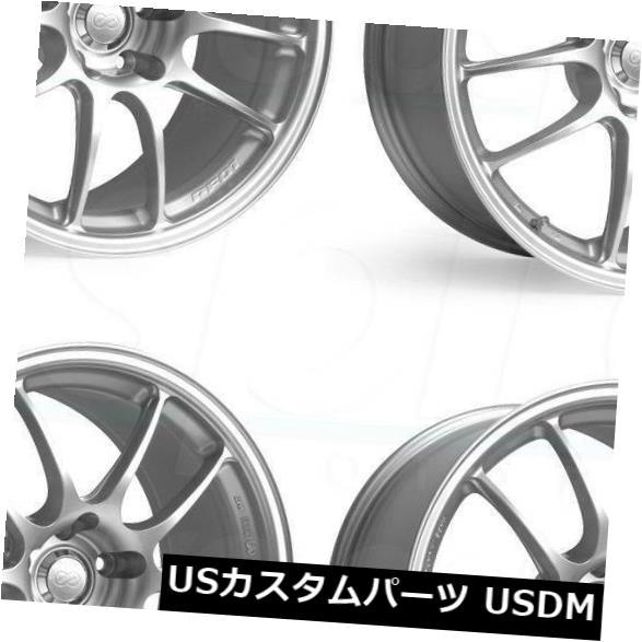 海外輸入ホイール 17x7シルバーペイントホイールエンケイPf01 5x114.3 48(4個セット) 17x7 Silver Paint Wheels Enkei Pf01 5x114.3 48 (Set of 4)