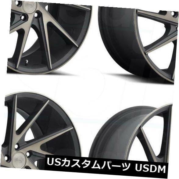 直輸入品激安 車用品 バイク用品 >> タイヤ ホイール 海外輸入ホイール 20x9ブラックマシニングホイールニッチインバートM163 チープ 5x114.3 25 4個セット Invert Niche 4 of 20x9 Black Wheels Machined Set M163