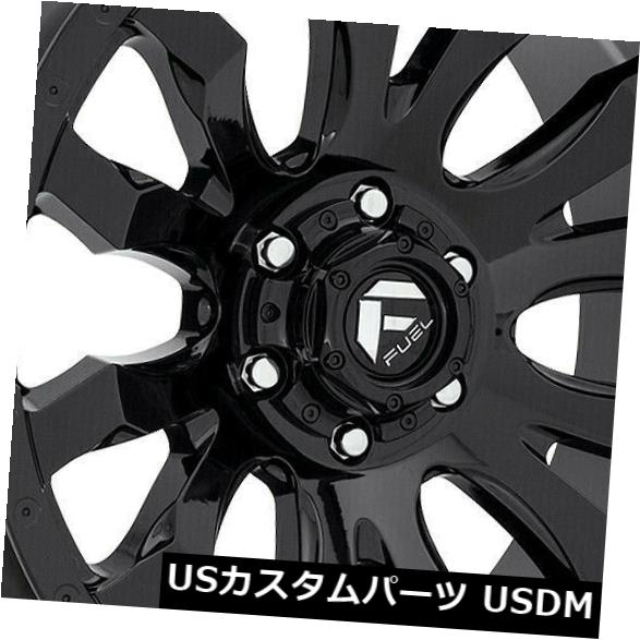 <title>車用品 バイク用品 人気急上昇 >> タイヤ ホイール 海外輸入ホイール 20x10グロスブラックホイールFuel Blitz D675 8x180 -18 4個セット 20x10 Gloss Black Wheels Fuel Set of 4</title>