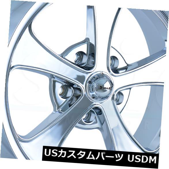 海外輸入ホイール 18x8 / 18x9.5 Chrome Wheels Ridler 645 5x114.3 0/0(4個セット) 18x8/18x9.5 Chrome Wheels Ridler 645 5x114.3 0/0 (Set of 4)