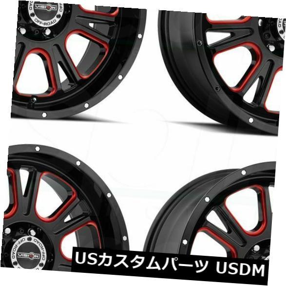 超ポイントアップ祭 海外輸入ホイール of 399 20x9ブラックレッドティントホイールビジョン399フューリー5x5.5/ 5x139.7 12(4個セット) 12 20x9 Black Red Tint Wheels Vision 399 Fury 5x5.5/5x139.7 12 (Set of 4), 戸畑区:dfbf15f7 --- 14mmk.com