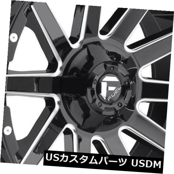 <title>車用品 入手困難 バイク用品 >> タイヤ ホイール 海外輸入ホイール 20x9ブラックミルドホイールフューエルコントラD615 8x6.5 8x165.1 1 4個セット 20x9 Black Milled Wheels Fuel Contra D615 Set of 4</title>