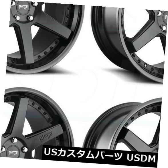 <title>車用品 バイク用品 >> タイヤ 毎日がバーゲンセール ホイール 海外輸入ホイール 20x9ブラックホイールNiche Altair M192 5x114.3 25 4個セット 20x9 Black Wheels Niche Set of 4</title>