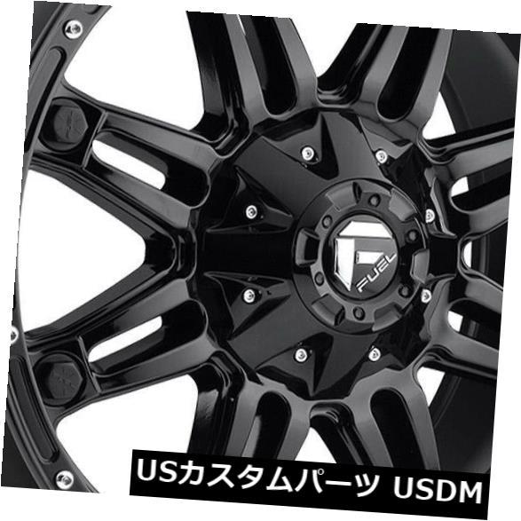 <title>車用品 バイク用品 >> タイヤ ホイール 海外輸入ホイール 20x10グロスブラックホイール燃料人質D625 割り引き 8x6.5 8x165.1 -18 4個セット 20x10 Gloss Black Wheels Fuel Hostage D625 Set of 4</title>