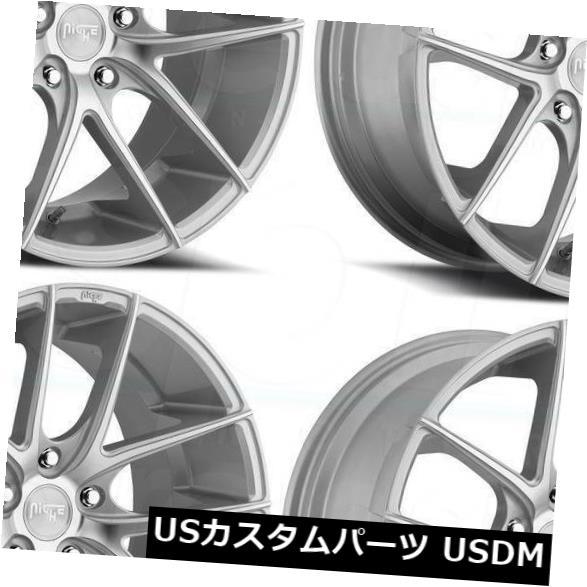 車用品 バイク用品 人気急上昇 >> タイヤ ホイール 海外輸入ホイール 20x8.5シルバー加工ホイールNiche 当店限定販売 Targa M131 5x114.3 20x8.5 of Wheels Machined 35 Set 4 Niche 4個セット Silver