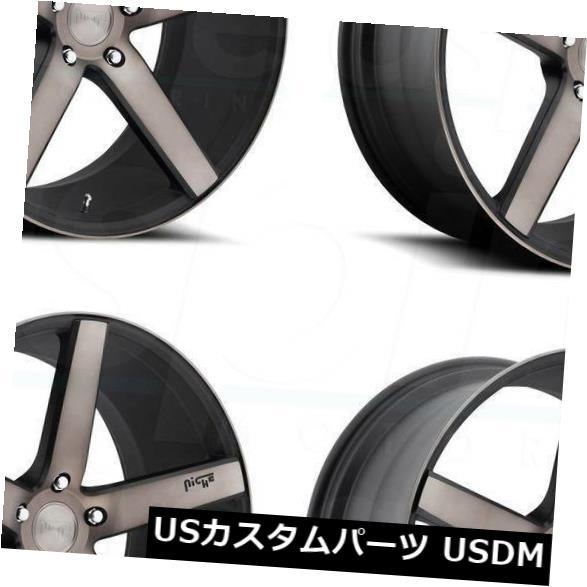 車用品 バイク用品 >> タイヤ ホイール 海外輸入ホイール 20x8.5ブラックマシニングホイールNiche Milan M134 5x114.3 35 Black Niche 国際ブランド of Machined 20x8.5 4 Set Wheels 4個セット 新作多数