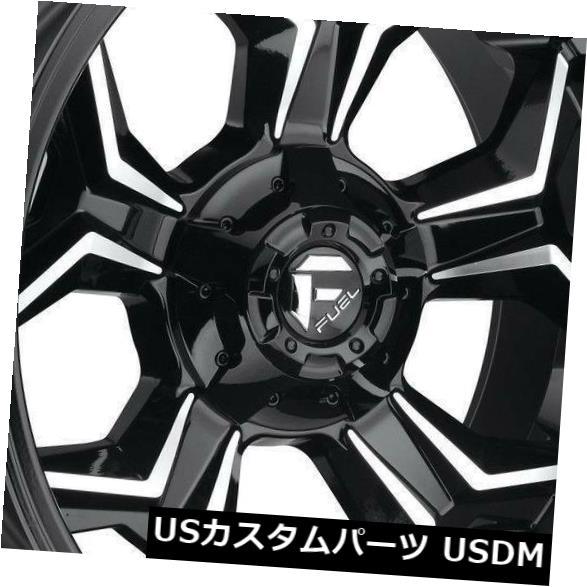 【コンビニ受取対応商品】 海外輸入ホイール 20x9ブラックマシンドホイールフューエルアベンジャーD606 5x5 / 5x5.5 20(4個セット) 20x9 Black Machined Wheels Fuel Avenger D606 5x5/5x5.5 20 (Set of 4), かめちゃん米 3e557f91
